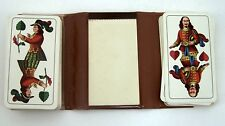 Skatspiel Kartenspiel Doeur Feinste Doppelbilder - Karte mit Notizblock & Etui