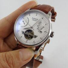 43mm Parnis riserva di alimentazione caso solido movimento automatico data orologi da polso Uomo