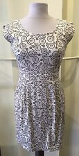 Ixia White Bicycle Print Round-Neck Dress