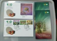 MALAYSIA 2017 100th Years Palm Oil Industry MS + 3v  stamp FDC pair KL chop