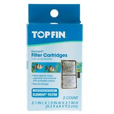 Top Fin Fish Tank Element Filter Cartridges EF-S 2 Count 2.1 x 1.9 x 3.7 Carbon