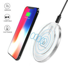 Qi Fast Wireless Charger&Charging Pad for iPhone X/8/8 Plus&Galaxy S9/S8 WHITE