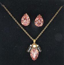 Sorrelli Black Fringe Teardrop Necklace Pendant and Earring Gift Set GCT60AGBF
