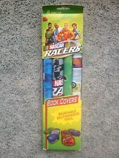 2000 Nascar Racers Book Covers 2 Packs Removable Self Adhesive Vinyl NOS