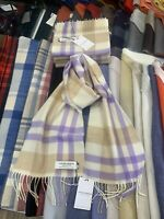 100% Lambswool Scarf by Lochcarron | Made in Scotland | Viola Asymmetric