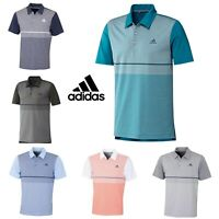 adidas 2019 Mens Ultimate Color Block Stretch UPF 50+ Breathable Golf Polo Shirt