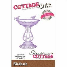 COTTAGE CUTZ BIRD BATH CUTTING DIE BY THE SCRAPPING COTTAGE - NEW 2015