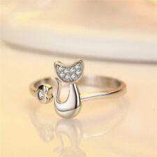 Fashion Lovely Cat Kitten Women Wedding Party Jewellery Opening Adjustable Rings