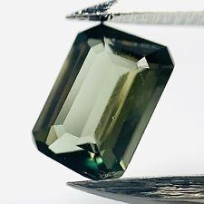 Genuine Green Kornerupin Octagon 0.85ct 6.7x4.7mm - Rare
