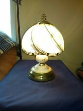 TOUCH LAMP - 3 Way Touch Function, Floral Design - Brass Color Highlights
