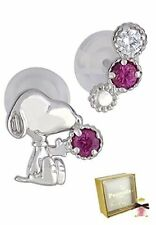 New[Sunupi] Snoopy Sunupi Happy Catch Silva 925 Earrings Popular Brand Women'S C