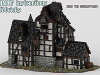 Lego MOC Tudor House 3 Custom Medieval Model instructions, NO PARTS