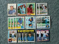 Pete Vuckovich Baseball Card Mixed Lot of approx 22 cards