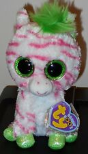 Ty Beanie Boos - SAPPHIRE the Zebra - JUSTICE Exclusive - NEW with MINT TAGS