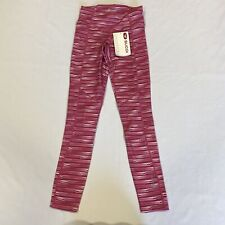 SUGOI Midzero Tights Ladies Pink/White Striped Ladies Size UK 12 (M) *REF154