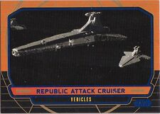 STAR WARS GALACTIC FILES SERIES 1 BLUE PARALLEL 266 REPUBLIC ATTACK CRUISER /350