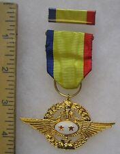 Post Ww2 Vintage Taiwan Roc Republic of China Air Force Six Star Medal