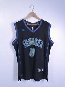 OKLAHOMA CITY THUNDER | Men's Retro Westbrook adidas NBA Basketball Jersey | XL