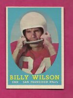 1958 TOPPS # 95 SAN FRANCISCO BILLY WILSON  EX-MT CARD (INV# A6059)