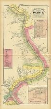 1877 map Atlas Upper Ohio River St. Mary's Newport Williamstown West Virginia 74