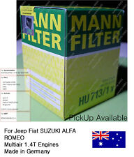 Genuine Mann HU713/1x Premium Oil Filter Jeep Fiat Multiair 1.4T Ryco ref R2708P
