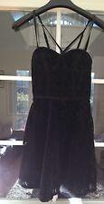 Women's/Girl's HOLLISTER Black Bustier Lace Lined Party Dress - Size XS BNWT