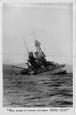 "POSTCARD  SHIPS   GERMAN  BATTLESHIP   ""  BAYERN  ""    Final  Plunge"