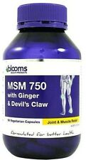 BEST PRICE! MSM 750 WITH GINGER & DEVILS CLAW 90 CAPSULES BLOOMS PHYTOLOGIC