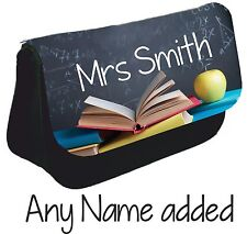 Personalised Teacher Pencil Case Thank You Gift Tutor Mr Mrs Teaching Assistant
