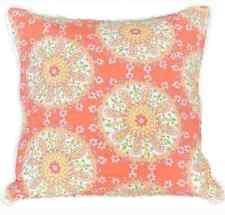 Dena Home Nostalgia : Meadow : Euro Sham : Orange Pink Green Yellow Coral White