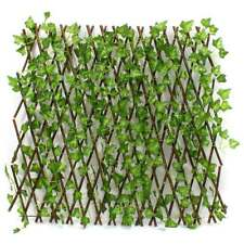 Expandable Artificial Faux Ivy Leaf Hedge Panels On Roll Garden Screen