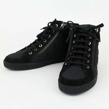 NIB CHANEL Men's Black Canvas Quilted High Top Sneaker Size 7 US 40 EU $1125