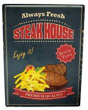 Blechschild XXL Retro  Steak House