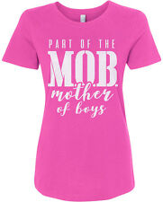 Part of the MOB Mother Of Boys Women's Fitted T-Shirt Mother's Day
