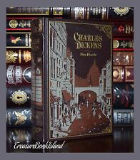 Charles Dickens Oliver Twist Great Expectations Two Cities Sealed Leather Bound