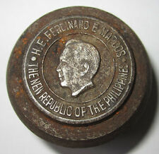 FERDINAND E. MARCOS The New Republic Of The Philippines Medal EL ORO Steel Die