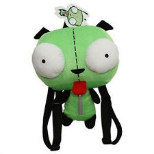 "Alien Invader Zim Gir Robot Dog Stuffed Plush Backpack Bag 14"" Green School Bag"