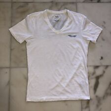 Armani Exchange Mens XS/S T-Shirt Designer White And Blue Casual