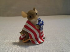 Charming Tails Wrapped With Pride 89/139 4th of July USA Patriotic Mouse NIB
