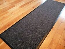 Carpet Long Hall Non Slip Stopper Rug Runners 60cm x 160cm - Grey/Black