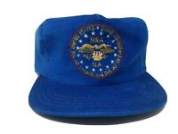 Vintage 1976 NRA Blue Corduroy US Bicentennial SnapBack Trucker Hat Cap USA made