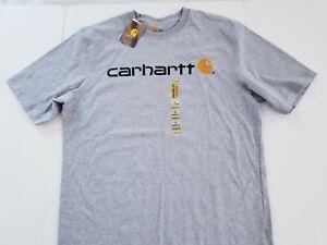 NEW MENS Carhartt Mens Cotton SHORT Sleeve T Shirt Size Large TALL LT GRAY
