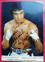 CP Photo BOXE: Michel LEFEBVRE Boxeur Champion de France BERCK SUR MER Dédicacée