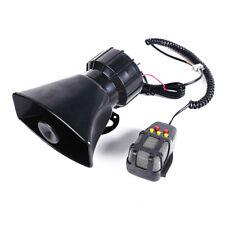 12V 100W 5 Sound Loud Car Alarm Police Fire Horn Siren PA Speaker MIC System