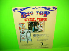 Johnson BIG TOP Gumball Vendor Original NOS Promo Arcade Sales Flyer Advertising