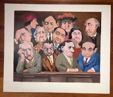 Charles Bragg THE JURY Original Lithograph in Colors - Printer's Proof - Signed