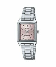 LTP-V007D-4E Pink Casio Ladies Women Watches Stainless Steel Band Brand-New
