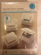 Martha Stewart Ivory Flourish Wedding Favor Boxes (24 count)