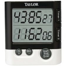 TAYLOR PRECISION 5828 Dual Event Digital Timer/Clock, Include 1 AAA battery,Clip