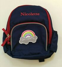 Pottery Barn Kids Fairfax Preschool Mini Blue Rainbow Backpack Name Nicolette